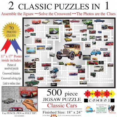 Bluebird-Puzzle - 500 Teile - Irv Brechner - Puzzle Combo: Classic Cars