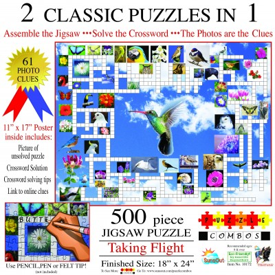 Bluebird-Puzzle - 500 Teile - Irv Brechner - Puzzle Combo: Taking Flight