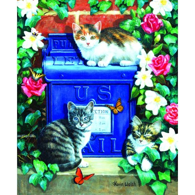 Bluebird-Puzzle - 1000 Teile - Mail Box Kittens
