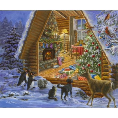 SunsOut - 1000 pieces - Jane Maday - Christmas Cabin