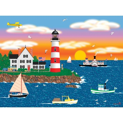SunsOut - 1000 pieces - Mark Frost - Triangle Point Lighthouse