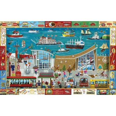 SunsOut - 1000 pieces - Next Stop: Columbia River Maritime Museum