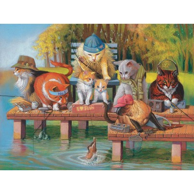 SunsOut - 300 pieces - XXL Pieces - Fishing on the Dock