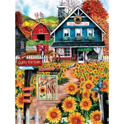 SunsOut - 300 pieces - XXL Pieces - Welcome to the Sunflower Inn