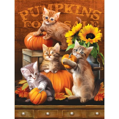 SunsOut - 300 pieces - XXL Pieces - Autumn Kitties