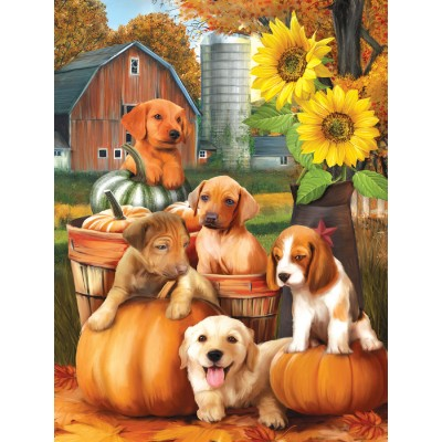 SunsOut - 300 pieces - XXL Pieces - Autumn Puppies