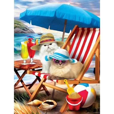 SunsOut - 300 pieces - XXL Pieces - Beach Cats