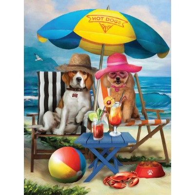 SunsOut - 300 pieces - XXL Pieces - Beach Dogs