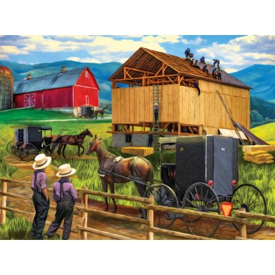 SunsOut - 500 pieces - Tom Wood - Raising the Barn