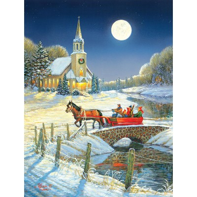 SunsOut - 500 pieces - XXL Pieces - Evening Sleigh