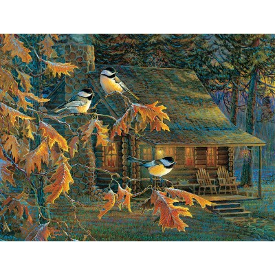 SunsOut - 500 pieces - XXL Pieces - Cabin Chickadees