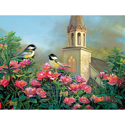 SunsOut - 500 pieces - XXL Pieces - Wedding Bell Chickadees