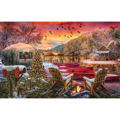 SunsOut - 1000 pieces - Christmas Eve Camping