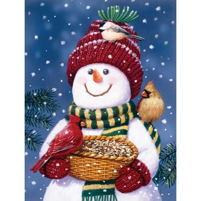SunsOut - 300 pieces - XXL Pieces - Snowman Bird Feeder