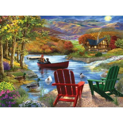 SunsOut - 1000 pieces - Bigelow Illustrations -  Lake Life