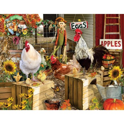 SunsOut - 1000 pieces - XXL Pieces - Lori Schory - Chickens on the Farm