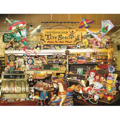 SunsOut - 1000 pieces - XXL Pieces - Lori Schory - An Old Fashioned Toy Shop