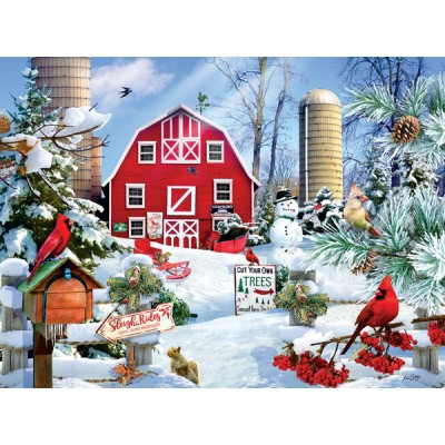 SunsOut - 1000 pieces - Lori Schory - A Snowy Day on the Farm