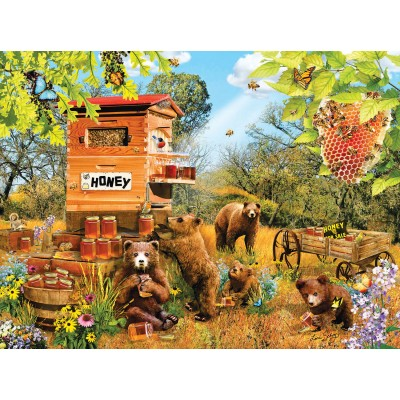 Bluebird-Puzzle - 1000 Teile - Lori Schory - Bears and Bees
