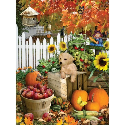 SunsOut - 300 pieces - XXL Pieces - Lori Schory - Harvest Puppy