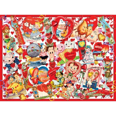 SunsOut - 300 pieces - XXL Pieces - Valentine Card Collage