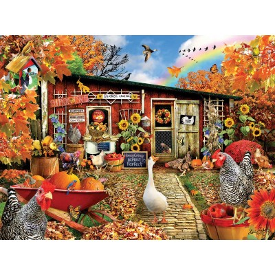 Bluebird-Puzzle - 1000 Teile - Chickens Crossing