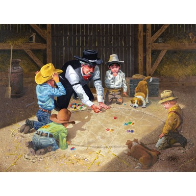 SunsOut - 500 pieces - Don Crook - Only Game in Town