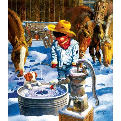 SunsOut - 550 pieces - Don Crook - Ice Fishing