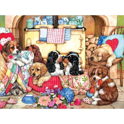 SunsOut - 300 pieces - XXL Pieces - Puppies in the Kitchen
