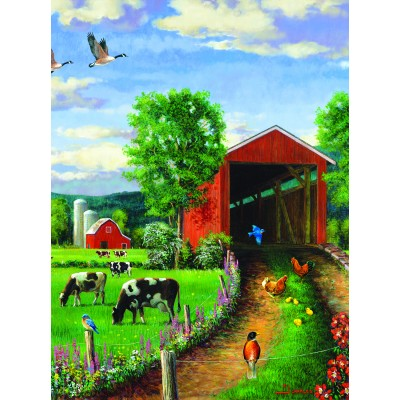 SunsOut - 500 pieces - Chickens at the Bridge