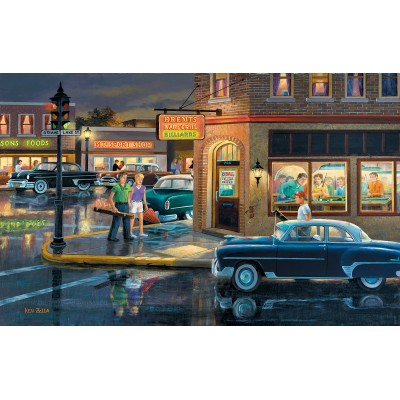 SunsOut - 550 pieces - Ken Zylla - Small Town Saturday Night