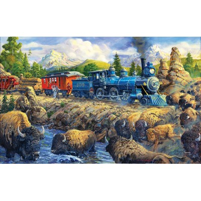 SunsOut - 550 pieces - Joseph Burgess - Delaying the Iron Horse