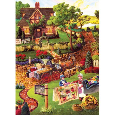 Bluebird-Puzzle - 500 Teile - XXL Teile - Joseph Burgess - Mary's Quilt Country