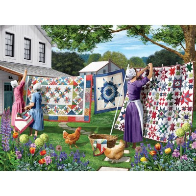 SunsOut - 500 pieces - Sharon Steele - Quilts in the Backyard