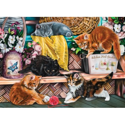 SunsOut - 1000 pieces - Image World - Playful Kittens