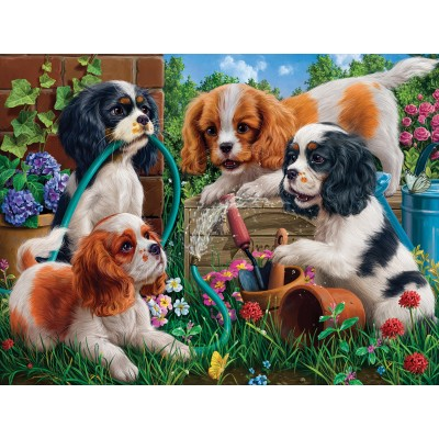 SunsOut - 1000 pieces - Pups in the Garden
