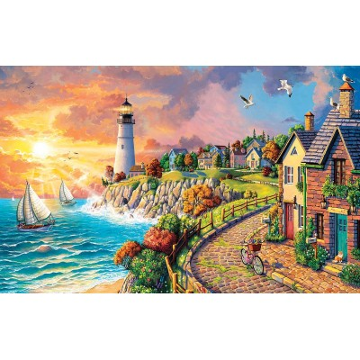 SunsOut - 550 pieces - Image World - Lighthouse by the Sea