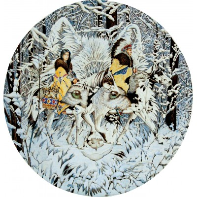 SunsOut - 1000 pieces - Diana Casey - Keeper of the Wolf