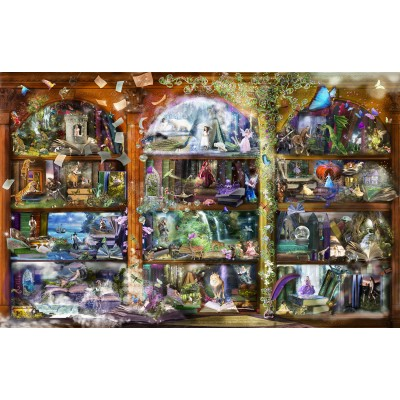 SunsOut - 1000 pieces - Alixandra Mullins - Enchanted Fairytale Library