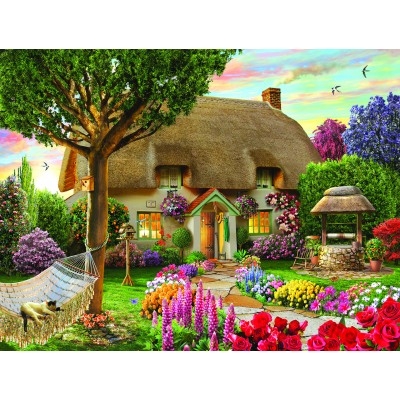 SunsOut - 1000 pieces - Adrian Cherterman - Wishing Well Cottage