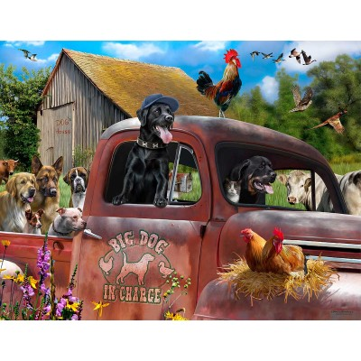 Bluebird-Puzzle - 1000 Teile - Big Dog in Charge