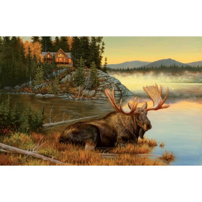 SunsOut - 1000 pieces - Lambson's Wildlife Art - Squatters Rights