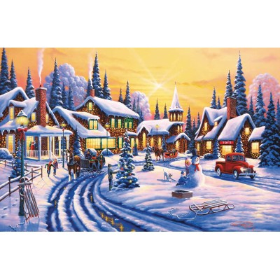 SunsOut - 550 pieces - Geno Peoples - A Winter Story