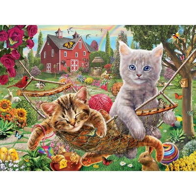 SunsOut - 1000 pieces - Adrian Chesterman - Cats on the Farm