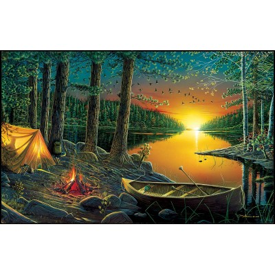 SunsOut - 550 pieces - Ervin Molnar - Evening by the Lake