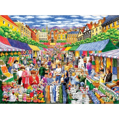 SunsOut - 1000 pieces - Gale Pitt - A Day at the Marketplace