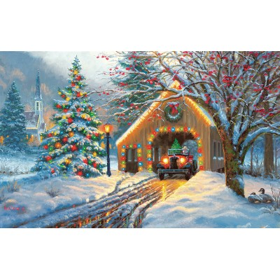 SunsOut - 550 pieces - Mark Keathley - Chirstmas Crossing