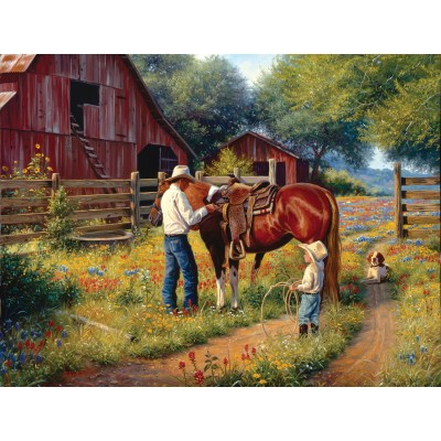 SunsOut - 500 pieces - XXL Pieces - Mark Keathley - Learning the Ropes