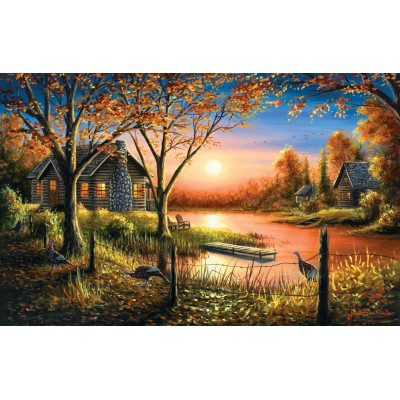 SunsOut - 550 pieces - Chuck Black - Glorious Sunset