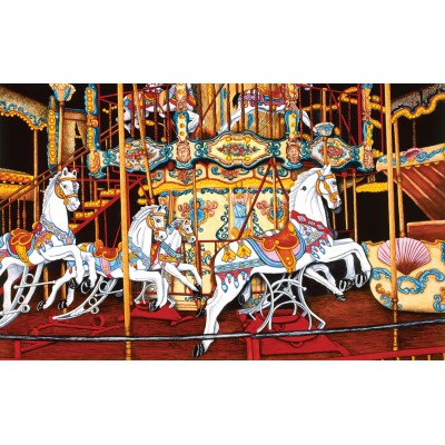 SunsOut - 550 pieces - Thelma Winter - Carousel at the Fair